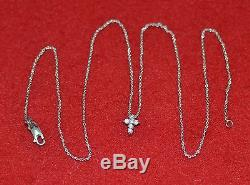18-Inch 18KT White Gold Chain with Cross Pendant Necklace by Roberto Coin, Italy
