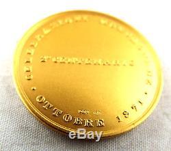18 Karat 12.71g GOLD Italian Morgagni Da Forli COIN Dated 1971 V30 C23