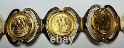 18k Gold 7.5 Bracelet with 5 British One Sovereign Gold Coins (22K) Excel Cond