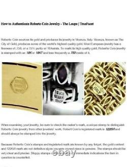 18k Yellow Gold Roberto Coin Appassionata Necklace Choker 69.4 Grams