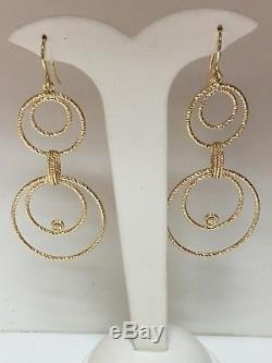 18kt Yellow Gold And Diamond Roberto Coin Mauresque Earrings