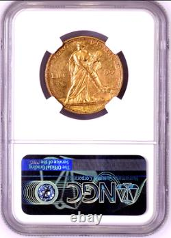 1912 Italy Gold Coin 50 Lire NGC MS62 King Vittorio Emanuele III