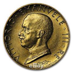 1931 Italy Gold 100 Lire Vittorio Emanuele III AU SKU #66405