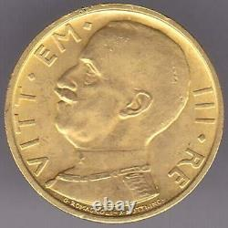 1931 R Yr IX Italy 50 Fifty Lire Gold Coin Rare Mintage 19,750
