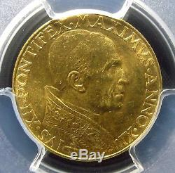 1949 Vatican City 100 Lira Gold Pcgs Ms-64 Uncirculated Unc Italy Edelmans