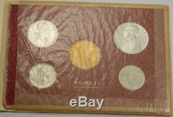 1951 Vatican 5 Coin Mint Set in Original Packaging Gold 100 Lira