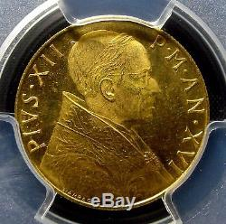 1954 Vatican City 100 Lira Gold Pcgs Ms-64 Uncirculated Unc Italy Edelmans