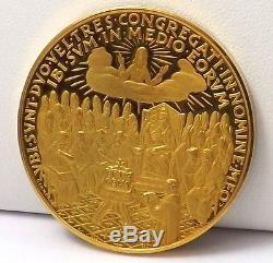 1962 Vatican Pope John Joannes XXIII Vatican Council. 900 21K Gold Medal Coin