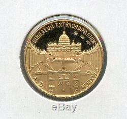 1966 Vatican City-italy Joannes XXII & Paul VI Gold Medal 18k Gold