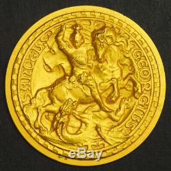 1970s, Italy. St. George Civic Genoa Colombian Institute Gold Medal. 11.48gm
