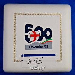 1992 R Bi-Metal Italy 500L Genoa Intl. Expo Gold Platinum Proof Coin Columbus