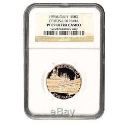 1996 R Italy 100000 Lire Certosa Di Pavia Gold Coin NGC PF 69 UCAM