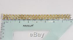 1.3 ct Roberto Coin 18k 2 Tone Gold Round Diamond Appassionata Weave Bracelet 8