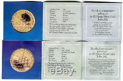 2006 Torino Winter Olympics Italy 20 & 50 Euro Gold Proof Coin 22.581g 21.6 KT