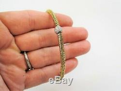22 Ctw Roberto Coin Primavera Diamond & 18k Yellow Gold Woven Stretch Bracelet