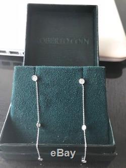 $2,895 Retail Roberto Coin 18k White Gold Station Earrings 3 / 3 Diamond Drop
