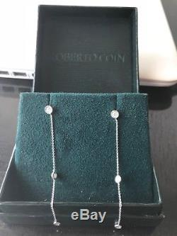 $2,895 Retail Roberto Coin 18k White Gold Station Earrings 3 / 3 Diamond Drop