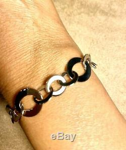 $ 3750 Beautiful Roberto Coin 18K Chic Shine Link Bracelet