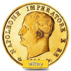 40 Lire Italy Napoleon I Gold Coin Avg Circ AGW. 3734 oz Random Year, 1807-1814