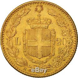 #460269 Italy, Umberto I, 20 Lire, 1888, Rome, Gold, KM21
