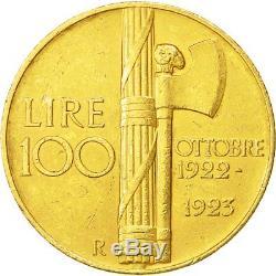 #481841 Coin, Italy, Vittorio Emanuele III, 100 Lire, 1923, Rome, Gold, KM65