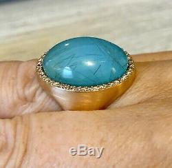 $4900 ROBERTO COIN 18K Rose Gold Diamond & Rutilated Quartz Doublet Ring Sz 8.5