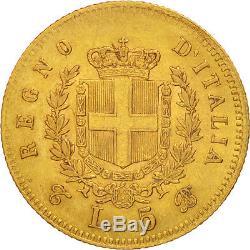 #49863 Italy, Vittorio Emanuele II, 5 Lire, 1863, Torino, Gold, KM17