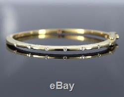 $5,200 Roberto Coin Classica Parisienne 18K Yellow Gold Diamond Bangle Bracelet
