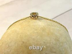 $650 Roberto Coin Tiny Treasures Letter O Initial Necklace, Diamond and 18K YG