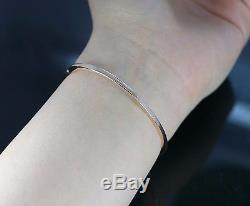 $6,500 Roberto Coin Classica Parisienne 18K Rose Gold Diamond Bangle Bracelet