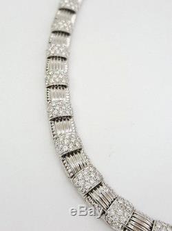 7.40 ct Roberto Coin Appassionata 18KW Gold Diamond Rare Necklace 36 Stations