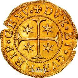 #877205 Coin, ITALIAN STATES, GENOA, 5 Doppie, 1653, Gold, KM100