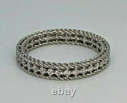 AUTHENTIC ROBERTO COIN'SYMPHONY' DIAMOND ETERNITY BAND 18kt WHITE GOLD SIZE 6.5
