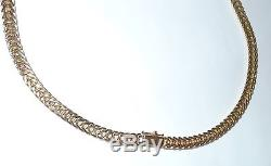 Ancient Coin Necklace Braided 14K gold Chain 33 Grams Choker