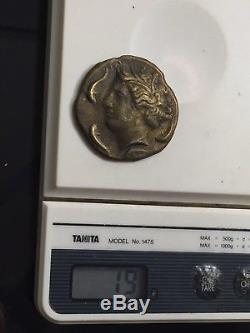 Ancient Rome Sicilian Syracuse Gold Coin 200BC Horses Dolphins Angel Dekadrachma