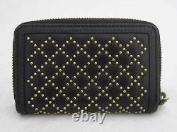 Auth Gucci Japan Exclusive Diamante Coin Card Case Brown/Gold Leather e46415e