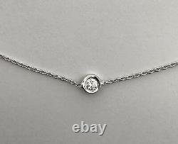 Authentic 18kt WHITE Gold Diamond 0.35, 7 Station Necklace by Roberto Coin