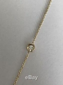 Authentic 18kt YELLOW Gold Diamond 0.35 ct Station Necklace by Roberto Coin