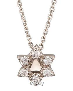Authentic 18kt white gold Tiny Treasures Star of David Necklace Roberto Coin