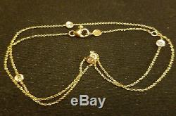 Authentic 5 Station Diamond 18kt YELLOW Gold Necklace by Roberto Coin