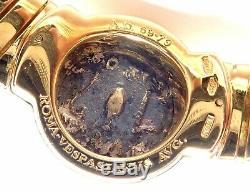Authentic! Bvlgari Bulgari 18k Yellow Gold Tubogas Monete Ancient Coin Necklace