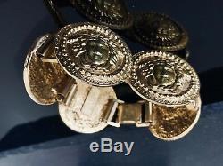 Authentic Gianni Versace Medusa Coin Bracelet, Versace Gold Tone Bracelet