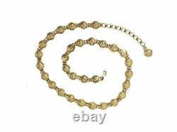 Authentic Gianni Versace rare vintage Gold-tone coin belt