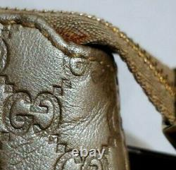 Authentic Gucci Micro Guccissima Zip Coin Purse Case Wallet Pouch Gold Key Ring