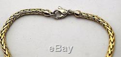Authentic Roberto Coin 1226 VI 18K Gold Mesh Rope Bracelet 8.9 Grams 7 58 L