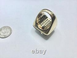 Authentic Roberto Coin 18K Rose Gold 23 X 23 MM Smokey Quartz Ring Sz 6.5, Heavy