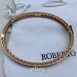 Authentic Roberto Coin 18 kt Rose Gold Symphony Bangle Bracelet
