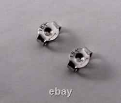 Authentic Roberto Coin 18k White Gold Diamond Stud Earrings, 0.14ctw Total