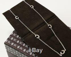 Authentic Roberto Coin 18k White Gold Diamonds Initial Letter C Necklace Pendant