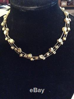 Authentic Roberto Coin 18k yellow gold triple strand necklace